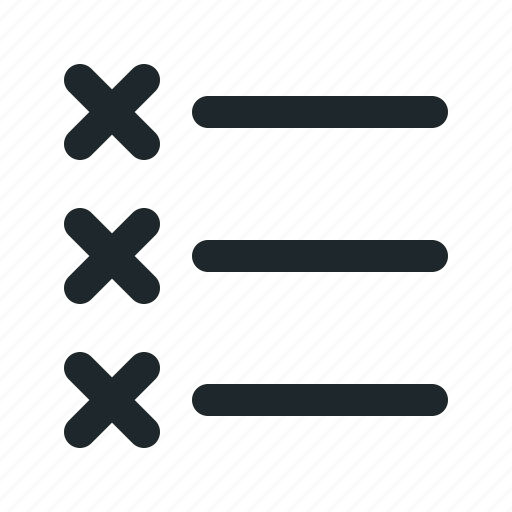 alignment, cross, list, text icon