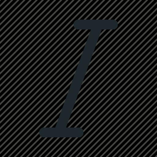 edit, format, italic, style icon