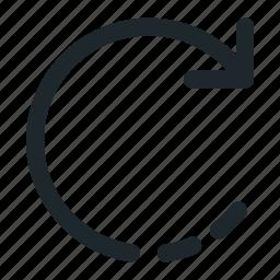 arrow, redo, rotate, sync icon