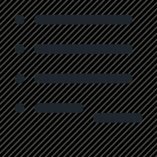 checklist, delete, list, minus, remove icon