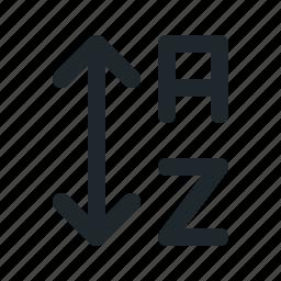 alphabet, down, sort, up icon