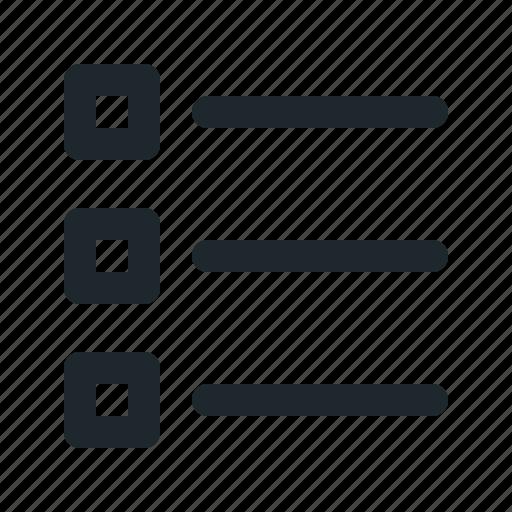 alignment, list, square, text icon
