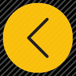 arrow, arrows, directions, left, line icon