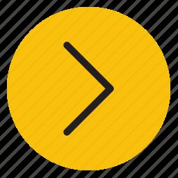 arrow, arrows, directions, line, right icon