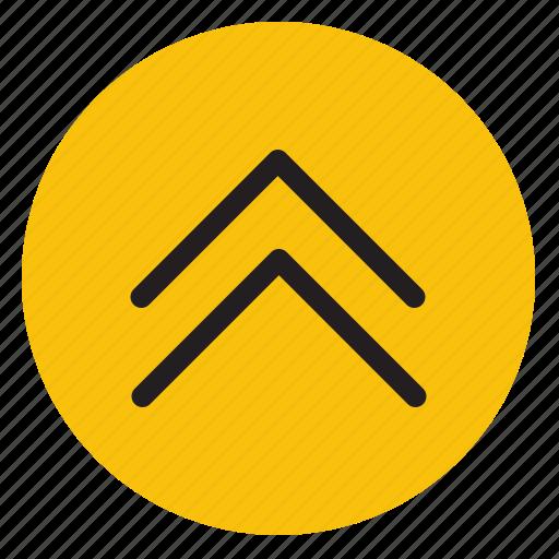 arrow, arrows, double arrows, line, scroll, up icon