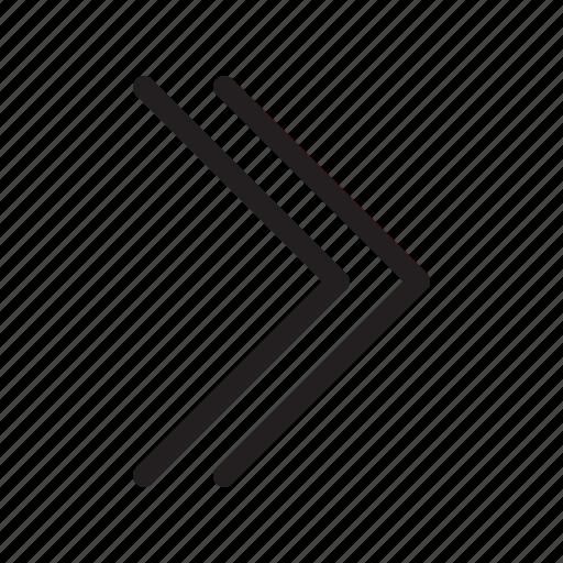 arrow, arrows, double arrows, line, right icon