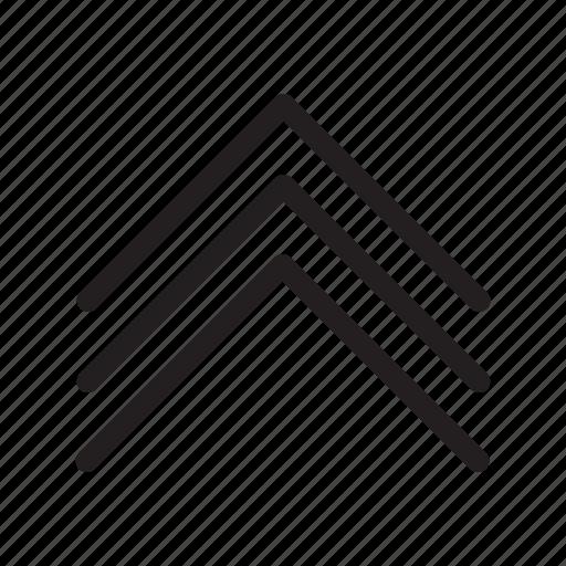 arrow, arrows, triple arrows, up icon