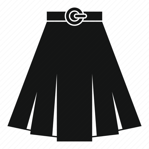 apparel, clothes, clothing, fabric, fashion, female, skirt icon