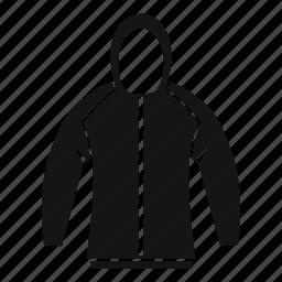 casual, clothes, cotton, fashion, hood, jacket, sweatshirt icon