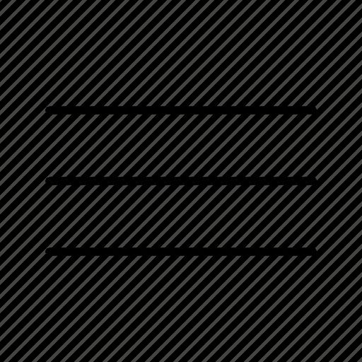 Hamburger, line, list, menu icon - Download on Iconfinder
