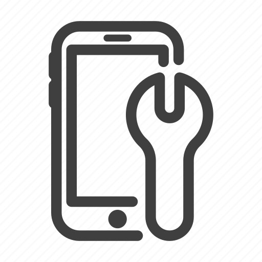 key, line, phone, spanner, wrench icon