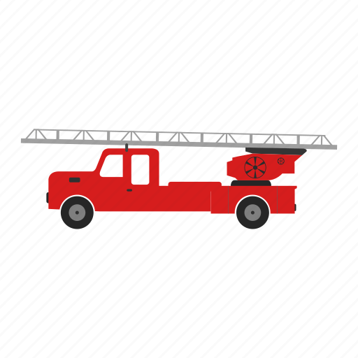 engine, fire, illustration, isolated, rescue, truck icon