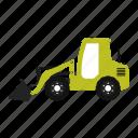 construction, excavator, logo, machinery icon