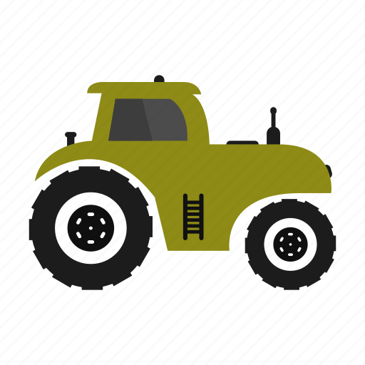 agricultural, background, isolated, machinery, tractor icon