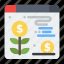 dollar, plant, web