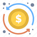 arrow, dollar, exchange, money