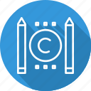 business, conflict, copyright, digital, law icon