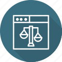 business, copyright, court, digital, law, online icon