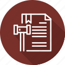 agency, business, copyright, digital, law, patent icon