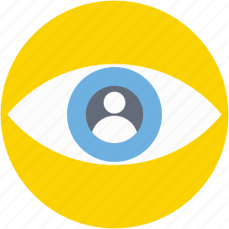 eye, look, view, visible, visual icon