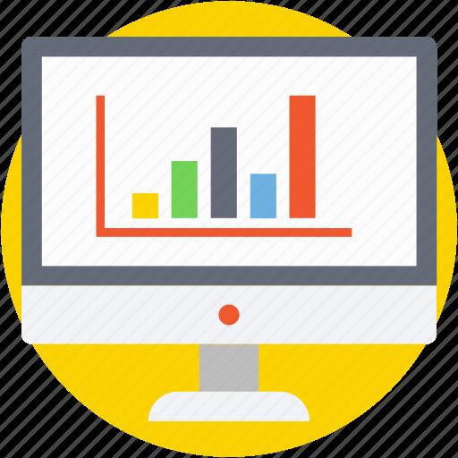 bar chart, bar graph, infographics, online graph, progress chart icon