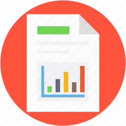 bar graph, finance report, graph analysis, graph report, sales report icon