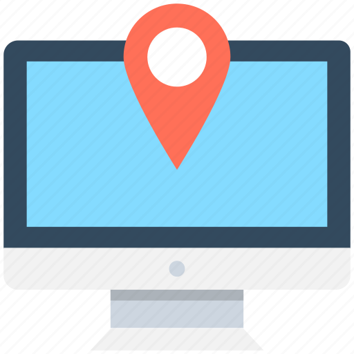 location finder, map pin, navigation, online map, online navigation icon