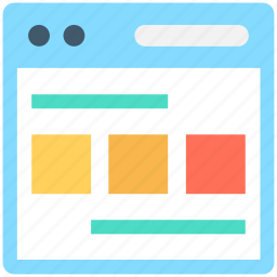 layout, template, web design, web layout, web structure icon