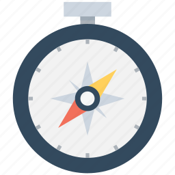 chronometer, compass, rose compass, speedometer, timepiece icon