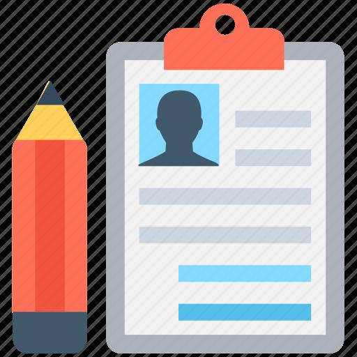 bio, clipboard, compose, edit, profile icon