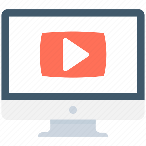film, lcd, online video, video, video player icon