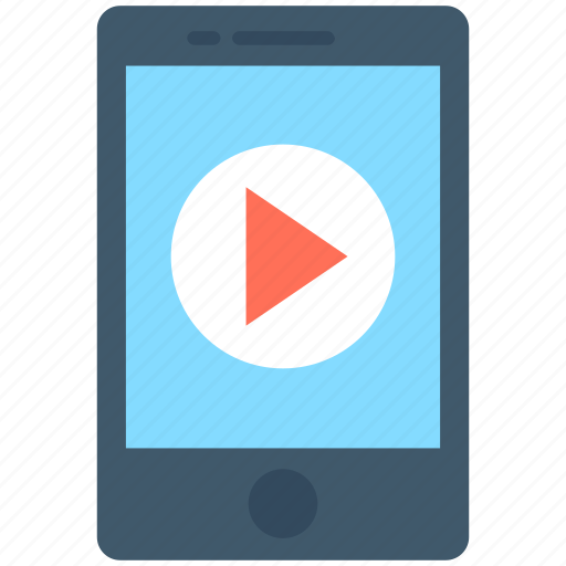 media player, mobile, mobile media, mobile music, video icon