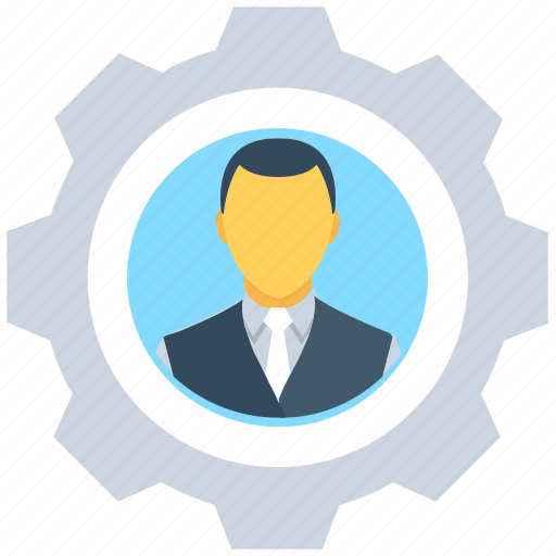 avatar, cog, configure, manager, profile settings icon