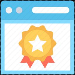 badge, star badge, web quality, web ranking, website icon