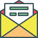 envelope, letter, open envelope, openletter icon