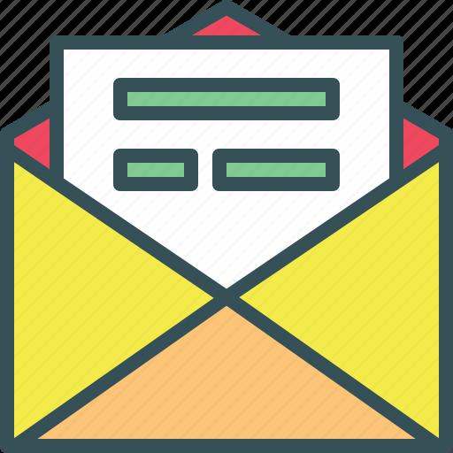 envelope, letter, open envelope, openletter icon