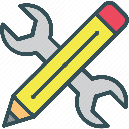 pen, pencil, set, setting, wrench icon