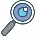 find, magnifier, search, searching, zoom icon