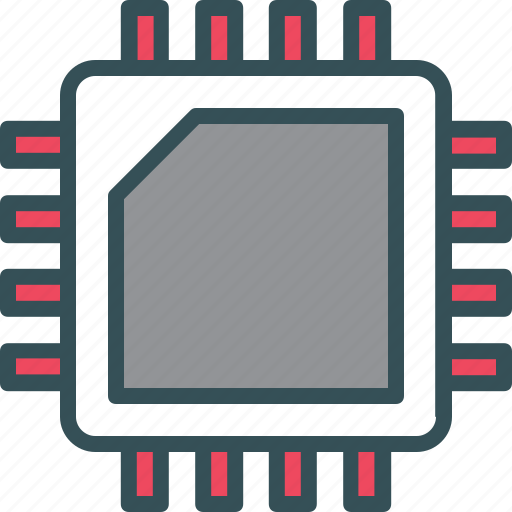 Chip, circuit, circuit board, computer, hardware icon - Download on Iconfinder