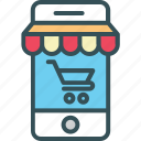 business, commerce, e-commerce, mobile, online icon