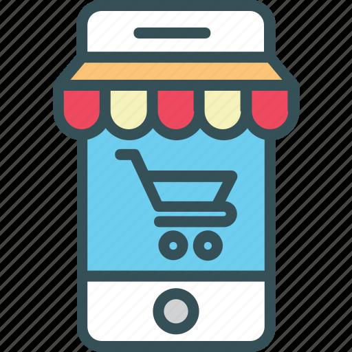 business, commerce, e-commerce, mobile, online icon