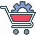 shoping, trolly cog on trolly, cart, cog