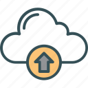 backup, cloud, data, storage, upload icon