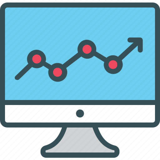 Chart, graph, growth, lcd, monitor icon - Download on Iconfinder