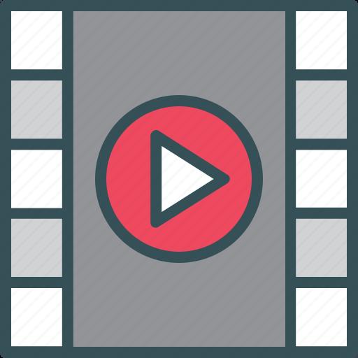 Movie, play, video, clip, film icon