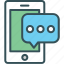 chat, message, mobile, online, speech icon
