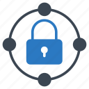 connection, lock, network, private, sharing icon