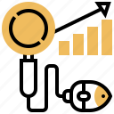 graph, research, search, seo, statistic icon