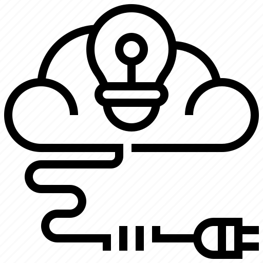 cloud, creative, data, idea, innovation icon