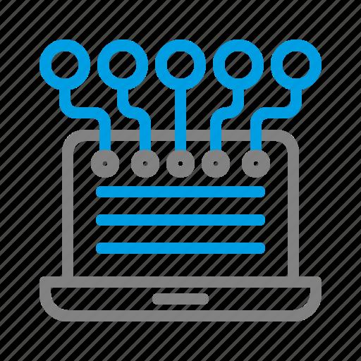 broadcast, digital, digital marketing, laptop, marketing, share icon